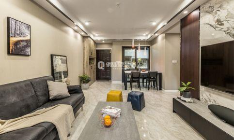 重庆新江与城清晖岸|三居室|现代装修|实景案例|俏业家