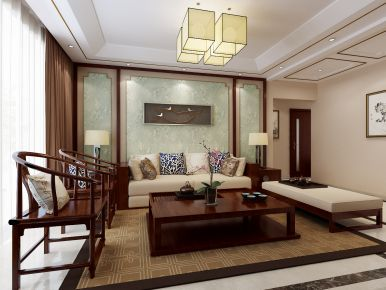 新中式风格三房装修设计 新中式风格家装效果图