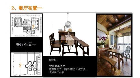珠江峰景美式风格三居室装修设计
