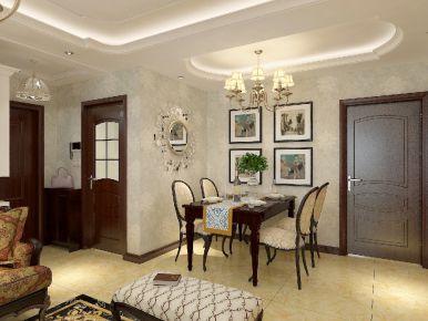 凯德世家四居室装修 美式风格家庭装修效果图