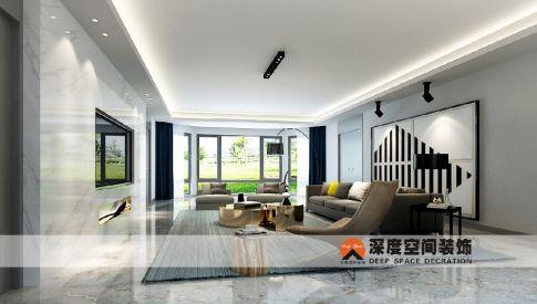 惠州香江别墅装修设计 简约风格别墅装修效果图