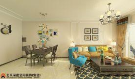 惠州中信水岸城 田园风格四房装修设计效果图