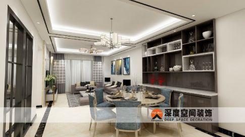 雅佳苑现代简约四居室装修设计
