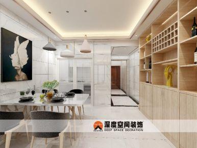 城市公园二居室现代风格装修设计