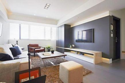 88㎡3房2厅简约风装修实景图 简约风格三房装修设计