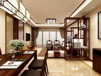 祈福新村海晴居中式风格三居室装修