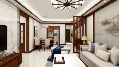 碧桂园新中式风格三居室装修