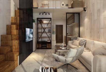 创意谷复式公寓装修 复式公寓楼简约装修效果图