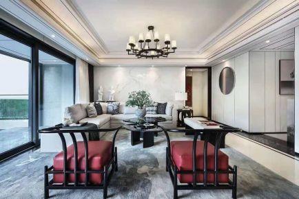 國貿藍海現代簡約三居室裝修    三居室簡約設計風格