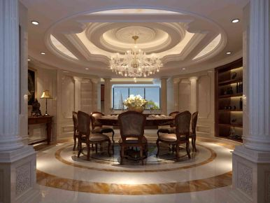 湖里区国贸蓝海中式四居室装修 中式四居室装修设计