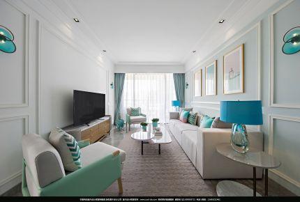 实地蔷薇国际现代三居室装修