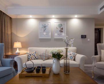 广州敏捷绿湖国际美式三居室装修 三居室装修效果图