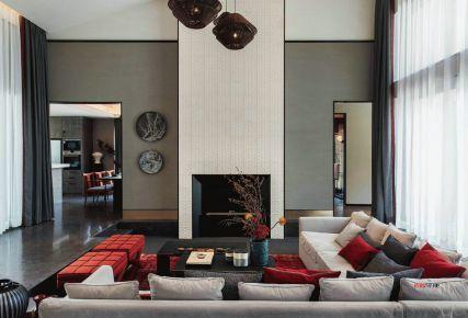 金地香山湖现代三居室装修