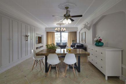 广州锦绣御景园美式三居室装修 美式风格三居室装修案例