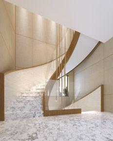 龙誉城东南亚风格别墅装修设计 现代轻奢风张扬有度