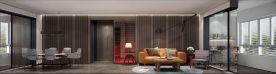 朗诗竸园三居室现代风格装修 后现代风格装修设计
