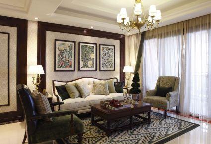 广州恒展江山时代中式四居室装修 中式风格装修案例