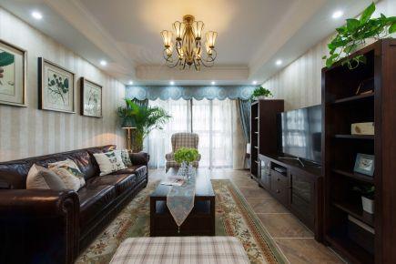 荔富湖畔美式三居室装修,家有宁静之美