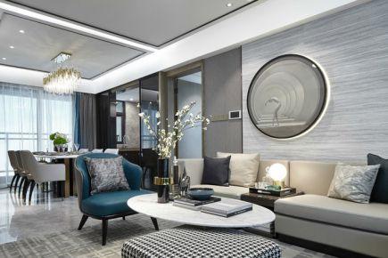 长沙中海国际现代风格三居室装修