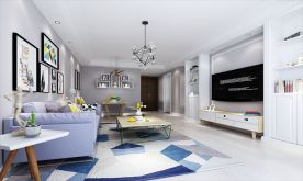福州金尊名都现代风格三居室装修