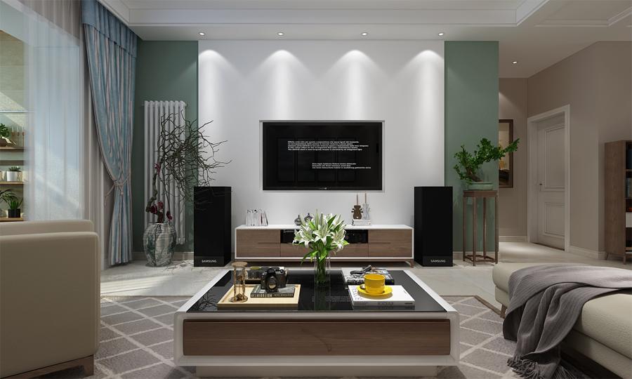 福州三盛托斯卡纳现代风格三居室装修 现代风格三居室装修案例