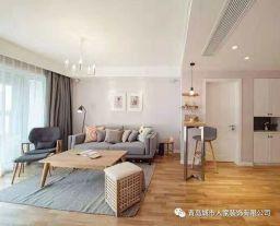 青岛玫瑰园简约三居室装修效果图 三居室装修设计
