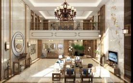 天津河东区新中式别墅装修,一进门就知道是有钱有品的大户人家