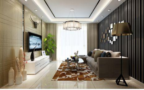 天津河东区融科金月湾现代二居室装修案例 现代风格二居室装修效果图