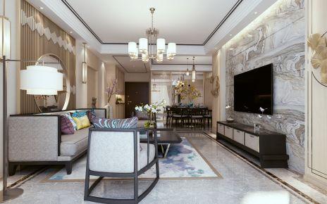 天津河东区新世界柏樾四居室中式装修 中式风格装修效果图