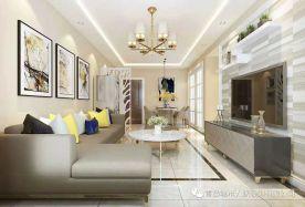 青岛玫瑰兰亭简约三居室装修效果图 三居室装修设计