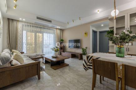 重庆金域蓝湾98平三室现代简约风格实景装修案例