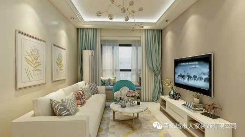 华融望海现代三居室装修效果图
