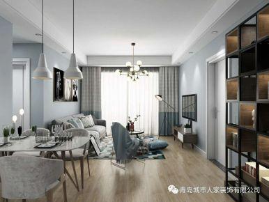青岛琴海湾欧式三居室装修效果图 欧式风格装修案例