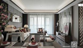 济南中海国际中式三居室装修效果图 三居室装修设计