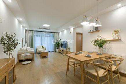 重庆首钢美利山87平三室日式风格实景装修案例