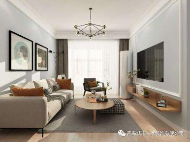 青岛水清花都二期三居室装修效果图 欧式风格装修案例