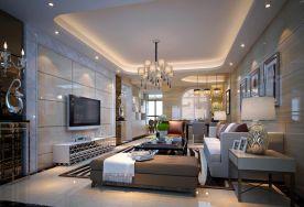 佛山保利紫山三居室设计效果图 三居室简约装修设计