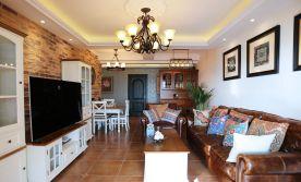 乌鲁木齐140平米美式风格装修案例 三居室装修设计