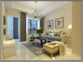 青岛玲珑郡欧式三居室效果图赏析 欧式风格装修案例