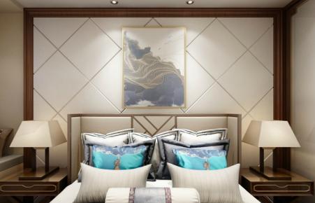 锦园中式风格三居室效果图