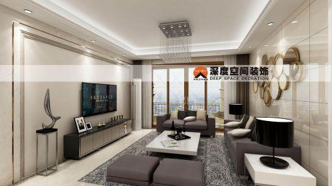 惠州城市公园里129平米现代风装修效果图