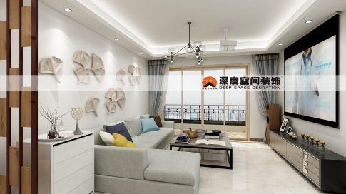 红星家园85平米现代风装修效果图 现代风格二居室装修