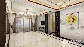 山泉居中式风格三居室装修设计