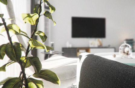 路劲城市花园现代两居室装修案例 两居室装修效果图