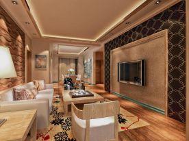 华夏御府现代三居室装修案例