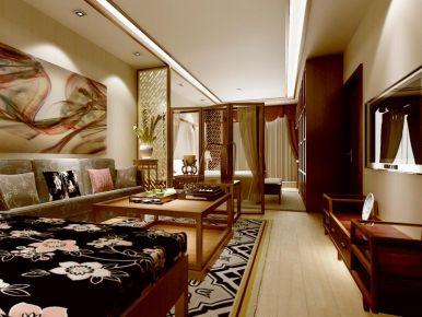 朗悦湾三居室创意混搭装修图片