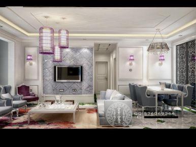龙湖新城法式三居室装修图片