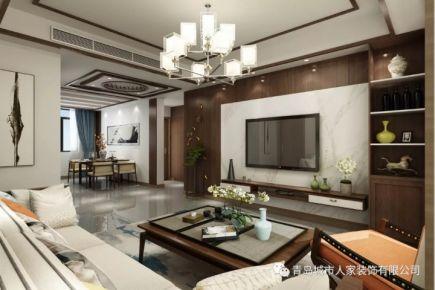 都市果岭中式三居室装修案例