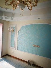 无锡现代简约风格三居室装修案例,客厅颜色搭配妙极