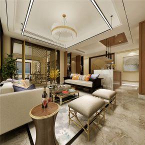 上海御涛园别墅项目装修案例 别墅中式装修风格多少钱